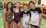 De izq. a der.: Estefanía Monsalvo, Hanna Solari, Valentín Gajardo, Eugenia Botelli (profe).